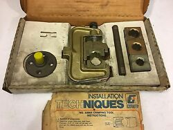 Everco A9805 Hose Tool With Four Die Sets And Instructions