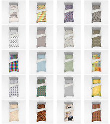 Ambesonne Vintage Retro Bedding Set Duvet Cover Sham Fitted Sheet In 3 Sizes
