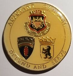 Us Army Berlin Brigade Adjutant General Divided City Germany Challenge Coin
