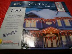 Holiday Time Fashion Curtain Light Set Red And Frosted White Bulbs/ 150 Ct  257
