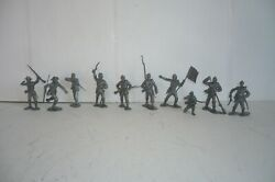 Mexican U.s. Civil War Soldier - Set Of 10 Toy Copy Marx Figures Made In Mexico