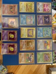 Huge Lot Of Pokemon Fossil Cards Mint, Old 1995 Vintage Cards And Tons More