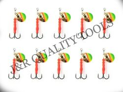 3.5 Colorado Spinner 5 Hex Slash Flame/chartreuse/green On Gold Size 1 Trebles