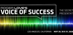 Roger Love's Voice Of Success Live Voice Coaching May 29-31 2021 Los Angeles