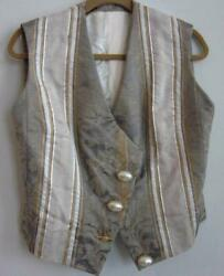 Christian Dior Haute Couture Paris Numbered Silk Brocade Lined Vintage Vest