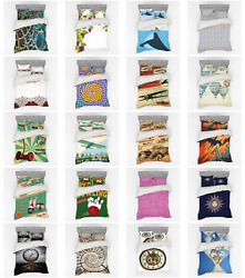 Ambesonne Vintage Scenes Bedding Set Duvet Cover Sham Fitted Sheet In 3 Sizes