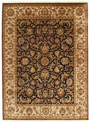 9x12 Indian Hand Knotted Area Rug Oriental Hand Woven Rug Antique Home Carpets