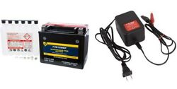 Suzuki Boulevard C50 C50t M50 M50b Fire Power Battery W/ Acid And Tusk Charger