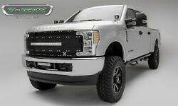 For 17-19 Ford F250 F350 F450 F550 Super Duty Black Aluminum Grille