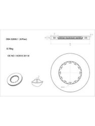 2 X Dba Cross-drilled And Dimpled Wave Rotor For Bmw 7 Series Dba52808wv2slvxd