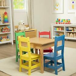 Melissa & Doug Kids Furniture Wooden Table & 4 Chairs - Primary