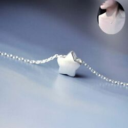 925 Silver Lovely Little Star Pendant Jewelry Charm Chain Women Necklace Gift