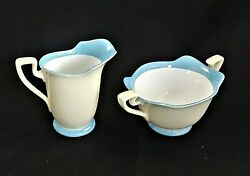 Noritake - Hand Painted - Deco Period - Creamer And Sugar Bowl - Red Mark