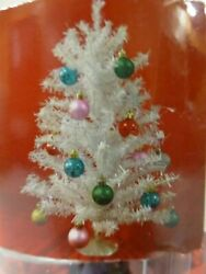 18quot; Mini White Christmas Tree Kit Includes White Tree 20 Ornaments and Hooks New