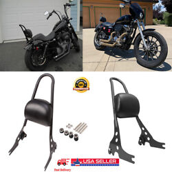 Detachable Passenger Sissy Bar Backrest For Harley Sportster Xl 883 1200 Usa Bt3