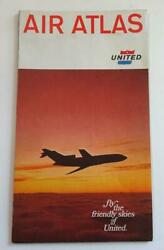 Air Atlas Friendly Skies Of United Brochure System Map Small Jet Photos 1966