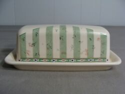 Pfaltzgraff Butter Dish With Lid In The Naturewood Pattern Aa