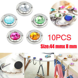 10X Fashion Crystal Folding Bag Portable Purse Table Handbag Hook Hanger Holder
