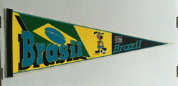 Rare Vintage Brazil World Cup 1994 Pennant Soccer Football 30 Unique Wincraft