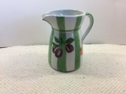 Andrea By Sadek Creamer Or Small Pitcher Grapes And Stripes