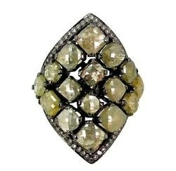 Natural Diamond 8.8ct Pave Ring Fine 925 Sterling Silver Vintage Style Jewelry 7