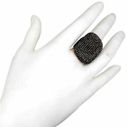 6.90 Ct Diamond Pave Antiqued Finish Ring Sterling Silver 14k Gold Fine Jewelry