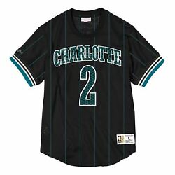 Mens Mitchell And Ness Nba Name And Number Mesh Crewneck Charlotte Hornets 1992 Larr