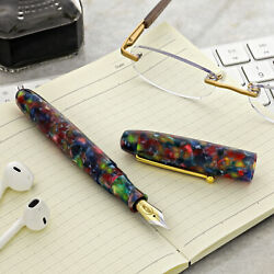 Edison Collier Rock Candy Acrylic Fountain Pen - Fine Point - New - Made In Usa