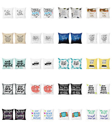 Ambesonne Calligraphic Art Cushion Cover Set Of 2 For Couch And Bed In 4 Sizes