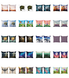 Ambesonne Fantasy Design Cushion Cover Set Of 2 For Couch And Bed In 4 Sizes