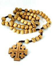 Hand Made Olive Wood Rosary Beads And Free Card Booklet Read Description