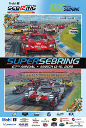 2019 12 Hours Of And 1000 Miles Of Sebring Imsa Wec Poster