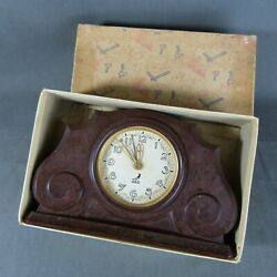 French Original Art Deco Bakelite Alarm Clock From Jaz Made In France C.1930and039s