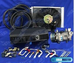 A/c Kit Universal Under Dash Evaporator 202 Pv8 12x16 Cond W/ Electric Harness