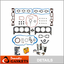 Fit 96-06 Chevrolet Gmc 4.3l Ohv Engine Full Gaskets Bearing And Rings Kit Vin W