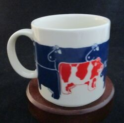 Taylor And Ng Dairy Dearies Cows Fine Ceramic Mug Made In Japan Designed In Usa
