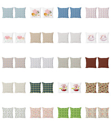 Ambesonne Tea Party Cushion Cover Set Of 2 For Couch And Bed In 4 Sizes