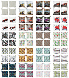 Ambesonne Car Theme Cushion Cover Set Of 4 For Couch And Bed In 4 Sizes