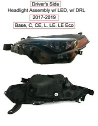 Driver Lh Headlight Assembly For Fits 2017-2019 Toyota Corolla C L Le Le Eco