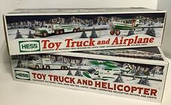 2 Hess 2006 Toy Truck And Helicopter And Truck And Plane Lot