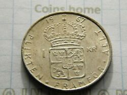 Coins Home Circulated 1967 Sweden 1 Krone Silver Lottv13 Uncertified Ungraded