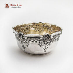 Portuguese Chased Engraved Bowl Shell Scroll Border 833 Standard Silver