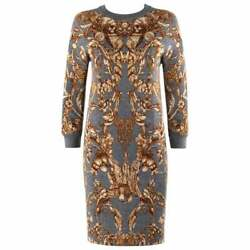 "ALEXANDER McQUEEN c.2010 ""Angels & Demons"" Grinling Gibbons Shift Knit Dress"