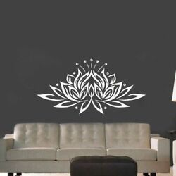 Large Size Lotus Flower Vinyl Wall Sticker Creative Design Wall Decals For Livi