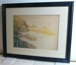 Vintage Henry B. Snell American Modernist Watercolor 1903 Monehegan Maine Signed