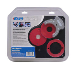 Kreg Prs4034 Black/red Precision Router Table Insert Plate Kit 9 1/4x11 3/4 In.