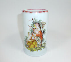 Large Glass Cup Bohemia Frosted Glass 18 Jh Fishing Fishermen