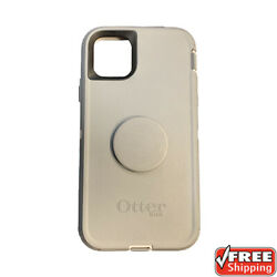 New Otterbox Otter + Pop Defender Series Popsockets Case Grey Iphone 11 Pro Max