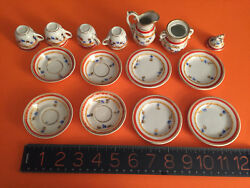 Mid--late 19thc German For French Market Doll Tea Set Hand Painted/gilded Wow