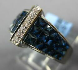 4.66ct Diamond Andaaa Sapphire 18k White Gold Princess Andround Invisible Crown Ring